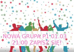 Silhouettes of party people on stars pattern background
